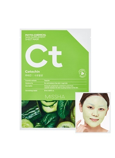 Missha Phytochemical Skin Supplement Sheet Mask (Catechin/Hydrating) Renksiz